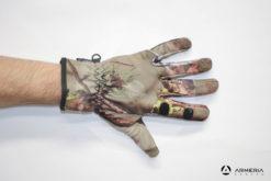 Guanti mimetici Percussion Ghost con dito scoperto taglia L dorso