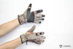 Guanti mimetici Percussion Ghost con dito scoperto taglia XL