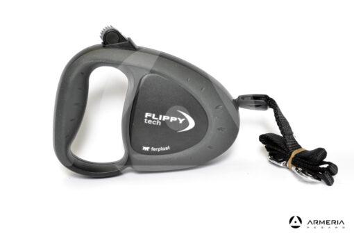 Guinzaglio cane con fettuccia Flippy Tech taglia Large fino 50kg nero