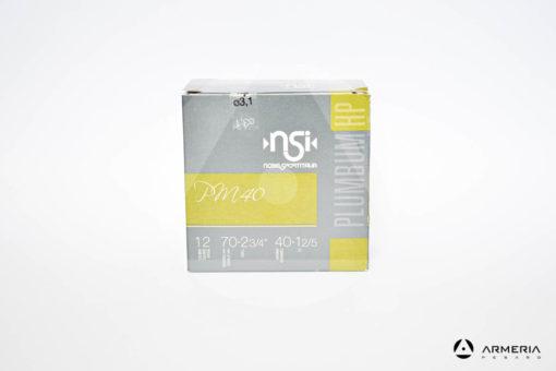 NSI Nobel Sport Italia PM40 Plumbum HP calibro 12 - Piombo 6 - 25 cartucce