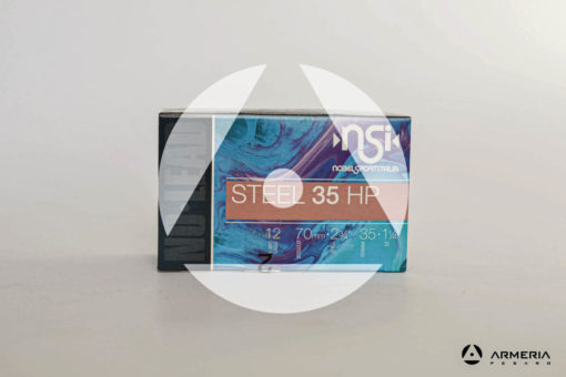 NSI Nobel Sport Italia Steel 35 HP calibro 12 - Piombo 2 - 10 cartucce fronte