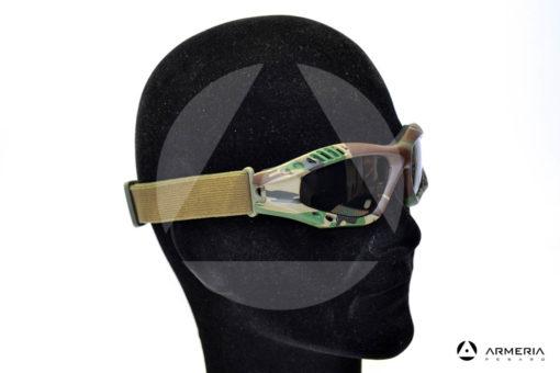 Occhiali tattici militari Virginia Tactical Outdoor Goggle mimetici lato