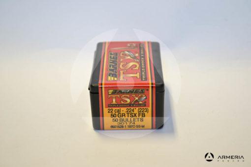 Palle ogive Barnes TSX calibro 22 .224_ (223) – 50 gr grani TSX BT - 50 pezzi -1