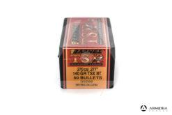 "Palle ogive Barnes TSX calibro 270 .277"" – 140 grani TSX BT - 50 pezzi #30266 mod"