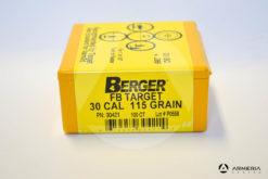 Palle ogive Berger FB Target calibro 30 - 115 grani - 100 pezzi -1