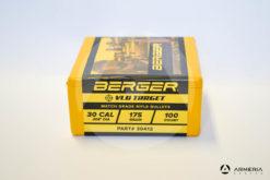 Palle ogive Berger VLD Target calibro 30 - 175 grani - 100 pezzi -1
