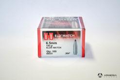 Palle ogive Hornady EDL Match 6.5 mm – 140 gr grani .264″ – 100 pezzi vista 2