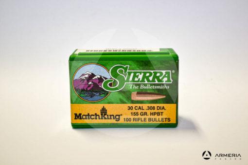 Palle ogive Sierra MatchKing calibro 30 .308 dia – 155 gr grani HPBT – 100 pezzi #2155 -0
