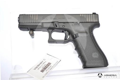 Pistola semiautomatica Glock modello 17FS Gem 4 calibro 9x21 con 2 caricatori canna 5 Sportiva