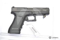Pistola semiautomatica Glock modello 17FS Gem 4 calibro 9x21 con 2 caricatori canna 5 Sportiva lato