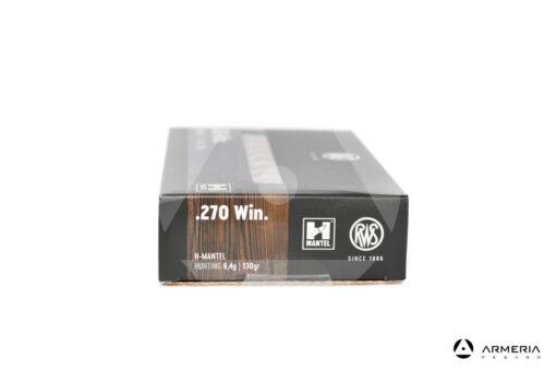 RWS H-Mantel Hunting calibro 270 Win 130 grani - 20 cartucce lato