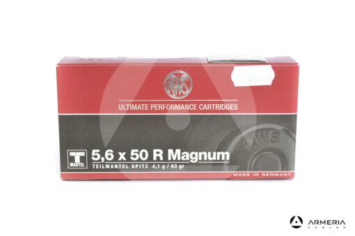 RWS T-Mantel calibro 5.6x50 R Magnum 63 grani - 20 cartucce
