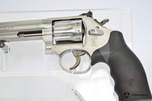 "Revolver Smith & Wesson modello 617 Inox canna 6"" calibro 22 LR macro"