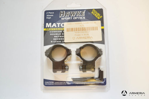 Supporti ad anello Hawke Sport optics Professional slitta 9-11 mm - 30 mm high #HM6162 -0