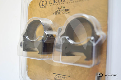"""Supporti ad anello Leupold QRW Rings 1"""" low gloss #49852-1"""