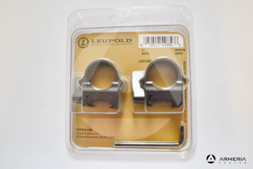 "Supporti ad anello Leupold QRW Rings - slitta Weaver - 1"" medium matte #49856-0"