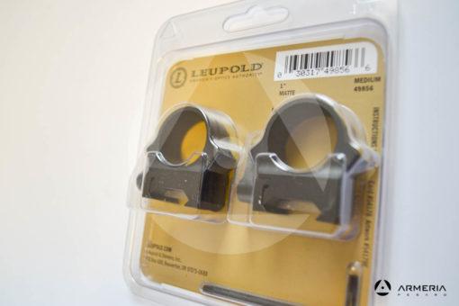 "Supporti ad anello Leupold QRW Rings - slitta Weaver - 1"" medium matte #49856-1"