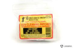 Busta set pezzuole Pro Shop 100% cotone per pulizia pistola 100 pz