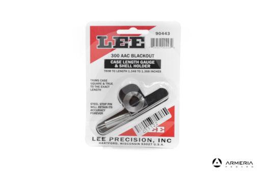 Asta tornitura bossoli Lee Precision calibro 300 AAC Blackout e Shell Holder #90443