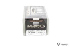 Palle ogive Nosler Ballistic Silver Tip calibro 30 - 180 grani 50 pezzi #51170