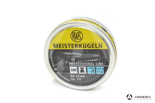 Scatola pallini RWS Meisterkugeln calibro 4.5 mm .177 - 500 pezzi