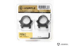 """Supporti ad anello Leupold PRW2 Precision fit slitta Weaver 1"""" low matte #174079"""