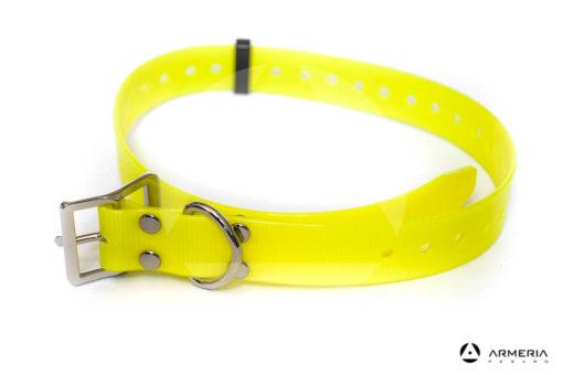 Collare giallo fluo in biotane per cani 65 cm