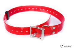 Collare rosso in biotane per cani 65 cm