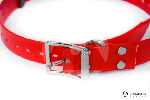 Collare rosso in biotane per cani - 65 cm
