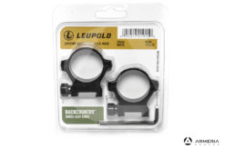 Supporti ad anello Leupold BackCountry slitta Weaver 34mm high matte #175122