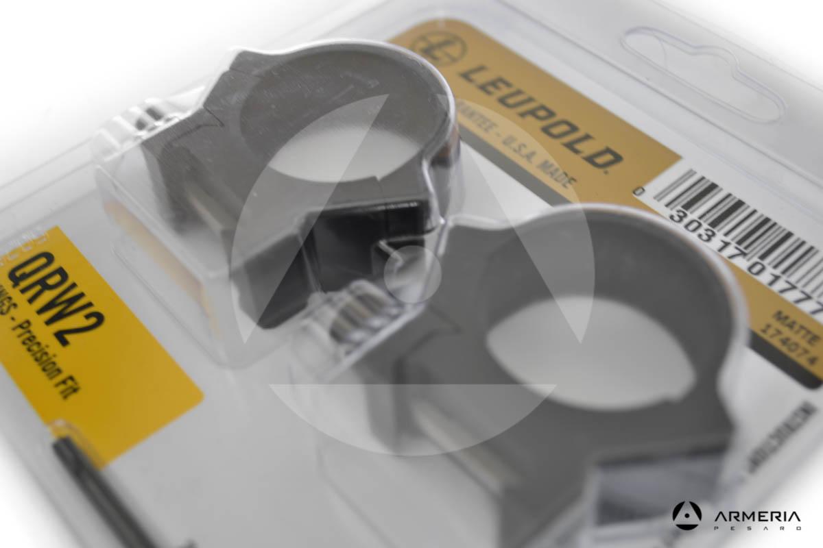 Supporti ad anello Leupold QRW2 Precision fit slitta Weaver 30mm low matte #1...