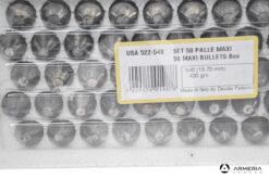 Palle ogive maxi per armi ad avancarica calibro 540 - 420 grani - 50 pezzi