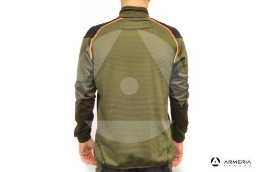 Maglia a zip Trabaldo Caracal Orange Taglia XXL retro