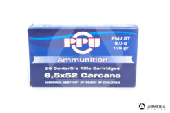Prvi Partizan Ammunition calibro 6.5x52 Carcano 139 grani FMJ BT - 20 cartucce