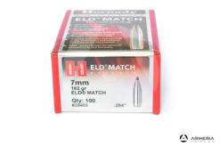 Palle ogive Hornady ELD Match 7mm 162 grani 284″ – 100 pz 28403