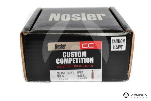 Palle ogive Nosler Custom Competition calibro 30 - 168 grani #65934