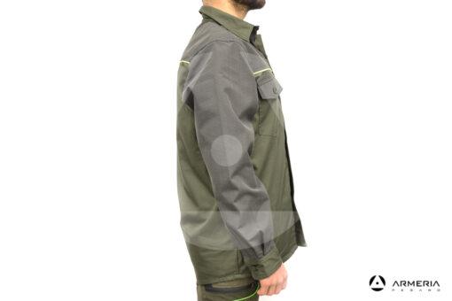Camicia da caccia RS Hunting C250 verde tg L lato