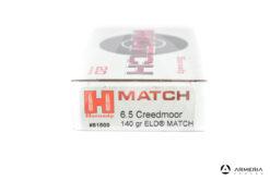 Hornady Match calibro 6.5 Creedmoor 140 grani ELD Match 20 cartucce