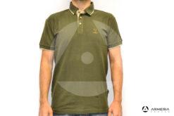 Polo Percussion verde manica corta taglia XL
