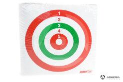 Bersaglio Adinolfi Fulpa tricolore da gara in cartone 14x14