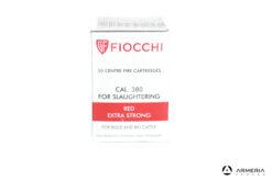Cartucce a salve per mattazzione Fiocchi Red Extra Strong calibro 380 - 50 pezzi