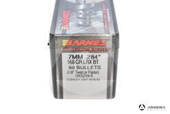 Palle ogive Barnes LRX calibro 7mm 168 grani LRX BT 50 pz #30284