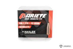 Palle ogive Hasler Ariete Solid Monolitic Type calibro 270 – 112 grani – 50pz