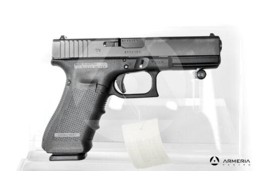 """Pistola semiautomatica Glock modello 17 Gen 4 calibro 9x21 canna 5"""" lato"""