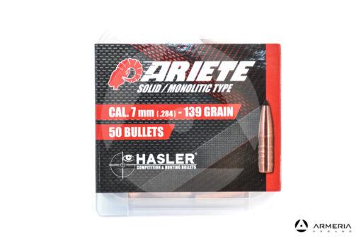 Palle ogive Hasler Competition Ariete Solid Monolitic Type calibro 7mm - 139 grani - 50 pezzi