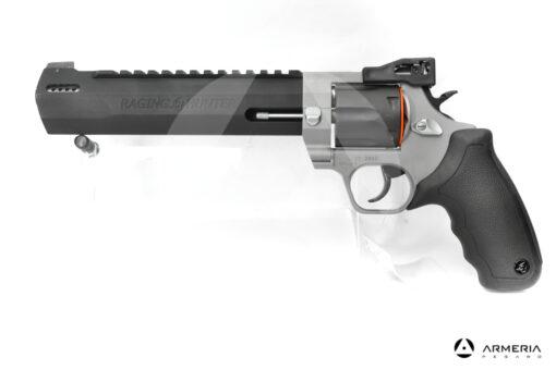 Revolver Taurus modello Racing Hunter canna 8.37 calibro 44 Remington Magnum bicolore lato