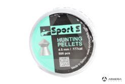 Scatola pallini Sports Hunting Pellets calibro 4.5mm - a punta