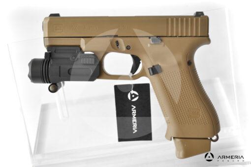 Pistola semiautomatica Glock modello 19X FDE calibro 9x21 canna 4 + torcia