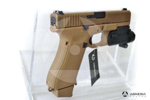 Pistola semiautomatica Glock modello 19X FDE calibro 9x21 canna 4 + torcia calcio