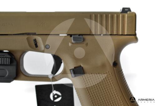 Pistola semiautomatica Glock modello 19X FDE calibro 9x21 canna 4 + torcia macro
